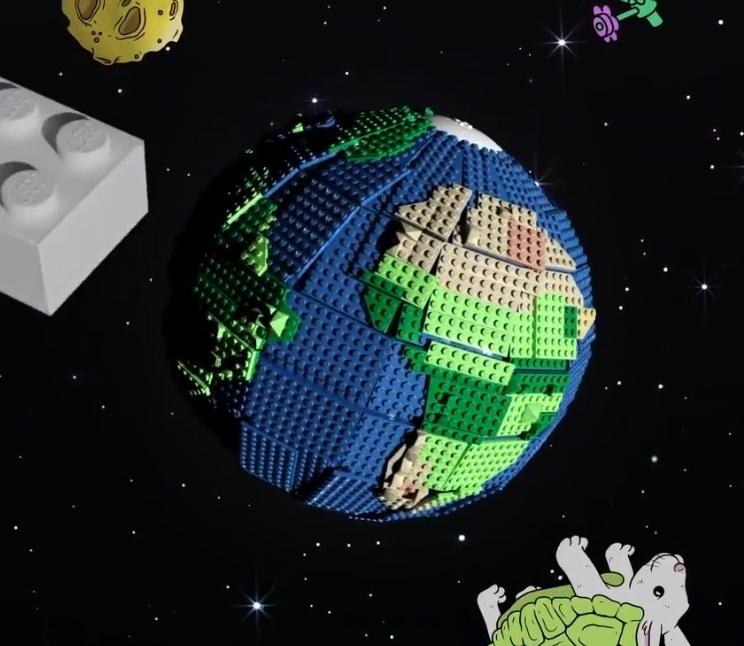 LEGO Recycled Brick Globe