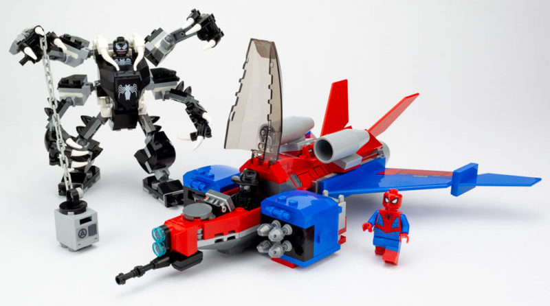 LEGO Review Spiderjet VS Venom Mech 22 E1589841139612