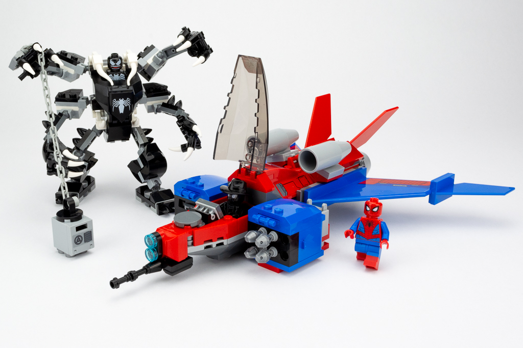 LEGO Review Spiderjet VS Venom Mech 22