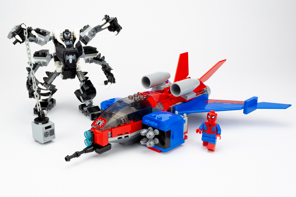 LEGO Review Spiderjet VS Venom Mech 23