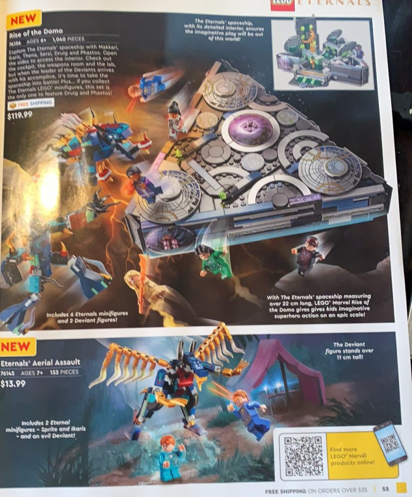 LEGO Rise Of The Dome Eternals Aerial Assault 76145 76156