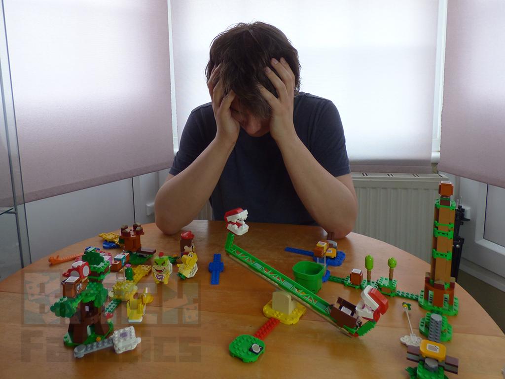 LEGO SUper Mario Championship Graham Losing