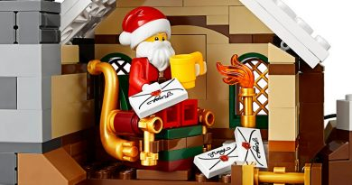 LEGO Santa Claus reading letters