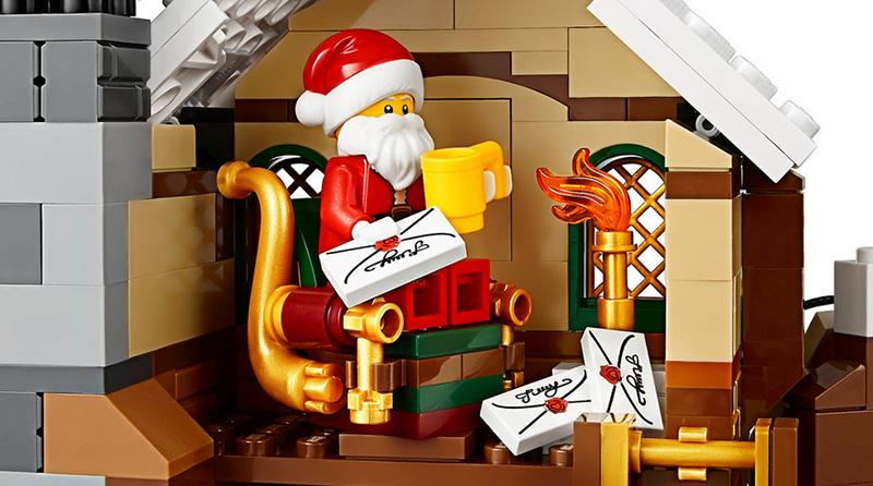 LEGO Santa Claus reading letters