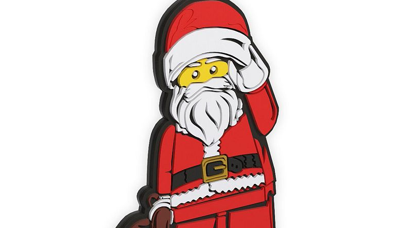 LEGO Santa Claus bag tag