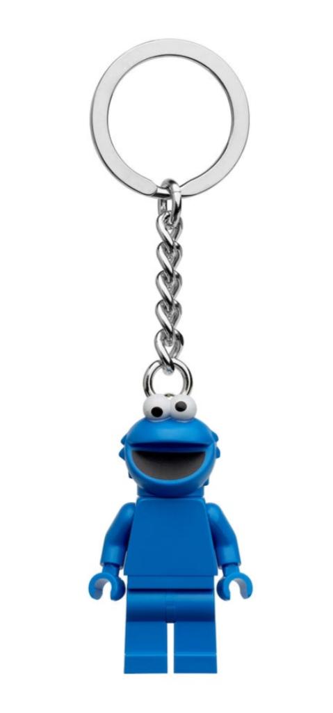 LEGO Sesame Street Cookie Monster Keyring