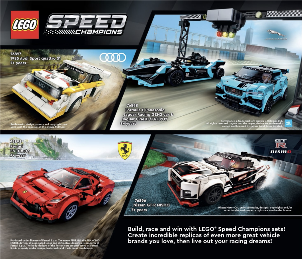 LEGO Speed Champions 2021 Catalogue