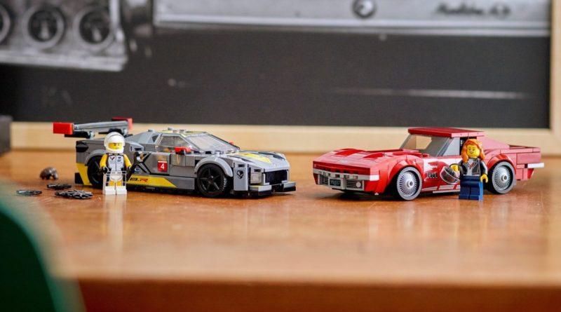 LEGO Speed Champions 76903 Chevrolet Corvette C8.R Race Car and 1968 Chevrolet Corvette featured