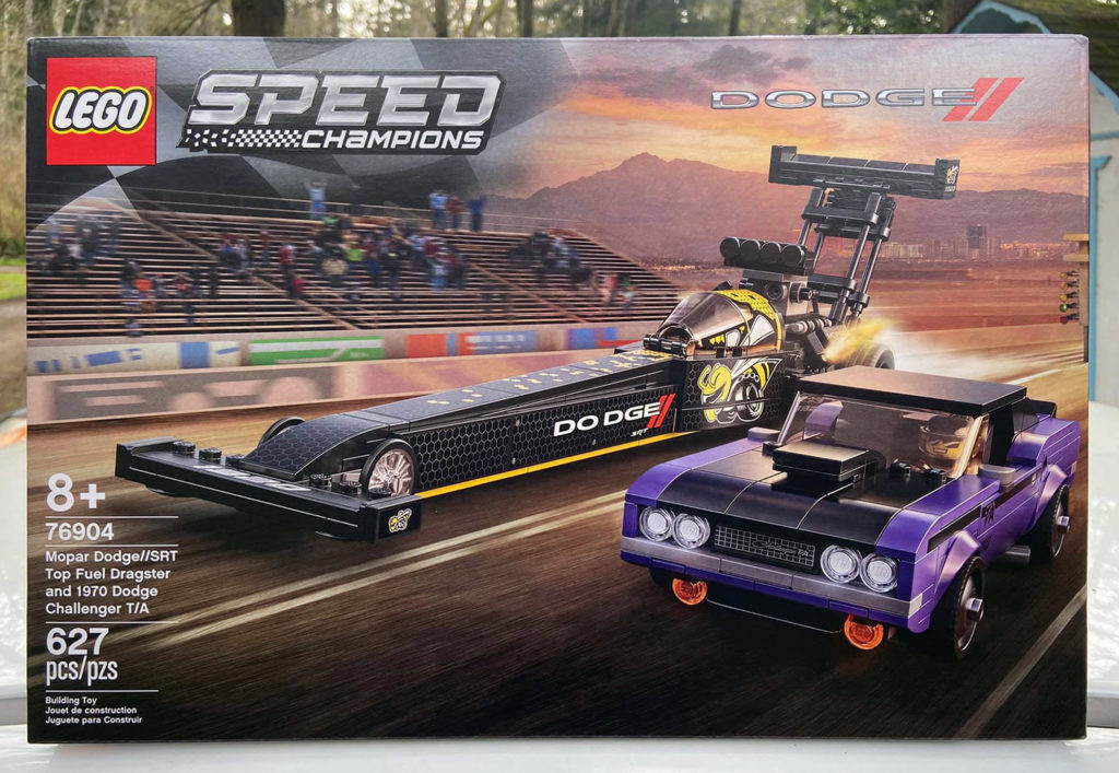 LEGO Speed Champions 76904 Mopar Dodge SRT Top Fuel Dragster and 1970 Dodge Challenger TA 1