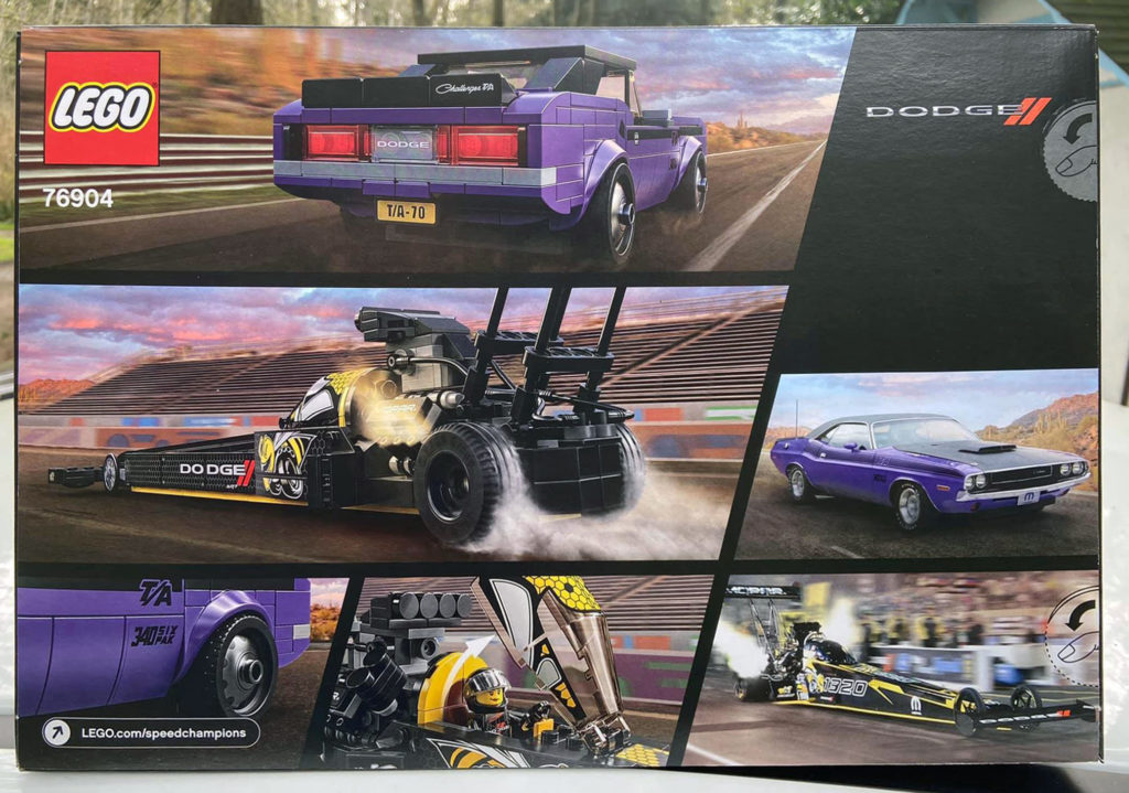 LEGO Speed Champions 76904 Mopar Dodge SRT Top Fuel Dragster and 1970 Dodge Challenger TA 2