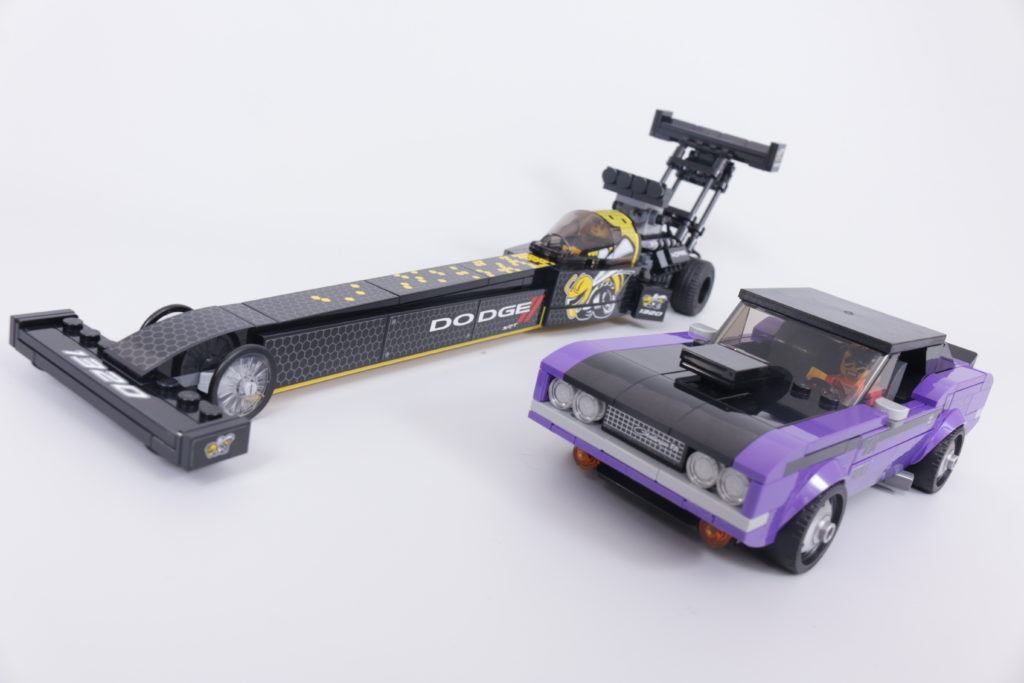 LEGO Speed Champions 76904 Mopar DodgeSRT Top Fuel Dragster And 1970 Dodge Challenger TA Review 1