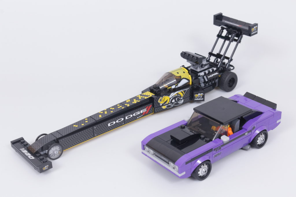 LEGO Speed Champions 76904 Mopar DodgeSRT Top Fuel Dragster And 1970 Dodge Challenger TA Review 2