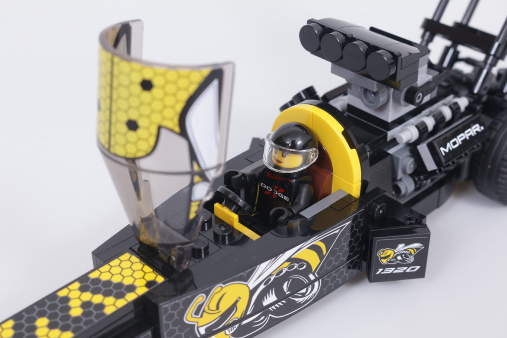 LEGO Speed Champions 76904 Mopar DodgeSRT Top Fuel Dragster And 1970 Dodge Challenger TA Review 32