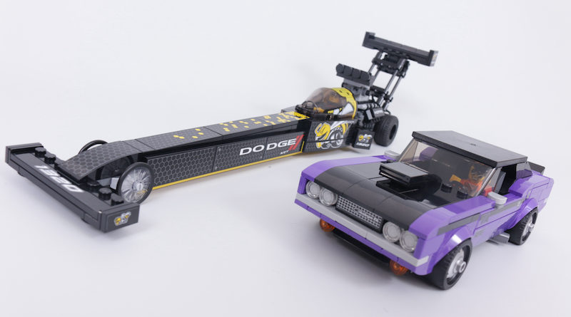LEGO Speed Champions 76904 Mopar DodgeSRT Top Fuel Dragster and 1970 Dodge Challenger TA review title
