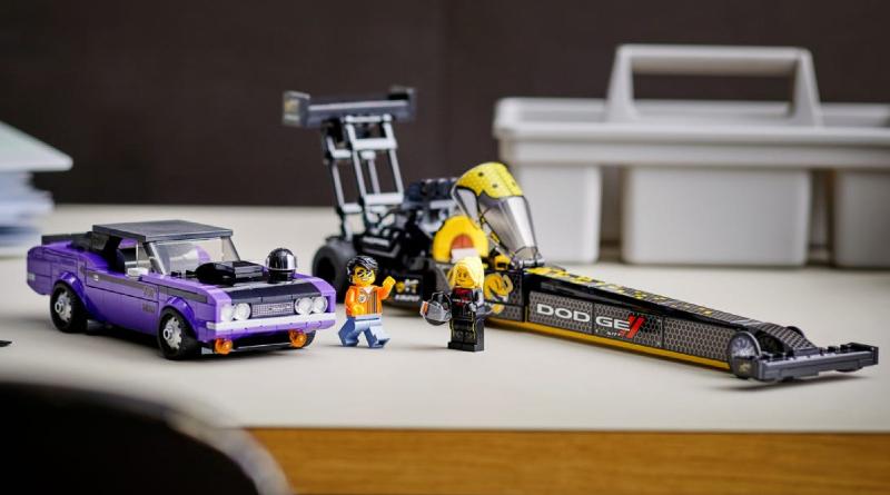 Lego Speed Champions 76904 Mopar Dodge SRT ထိပ်တန်းလောင်စာဆီ Dragster နှင့် 1970 Dodge Challenger TA Featured