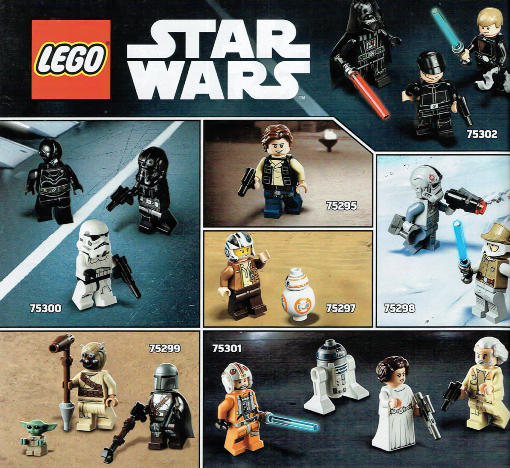 LEGO Star Wars 2021 Minifigures Spread