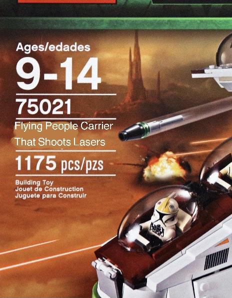 LEGO Star Wars 75021 Republic Gunship name meme