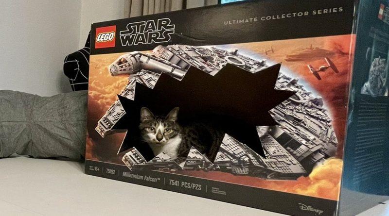 LEGO Star Wars 75192 Millennium Falcon box cat featured