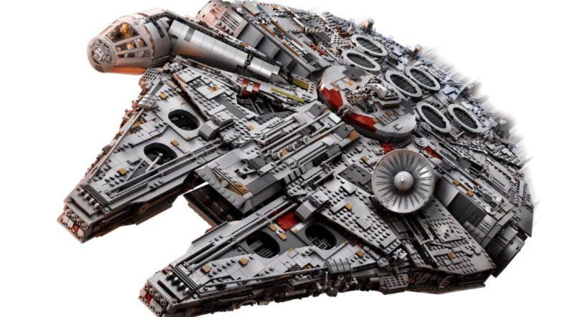 LEGO Star Wars 75192 Millennium Falcon box pose no art featured