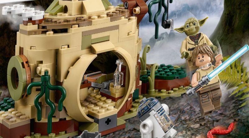 LEGO Star Wars 75208 Yodas hut box art close up featured