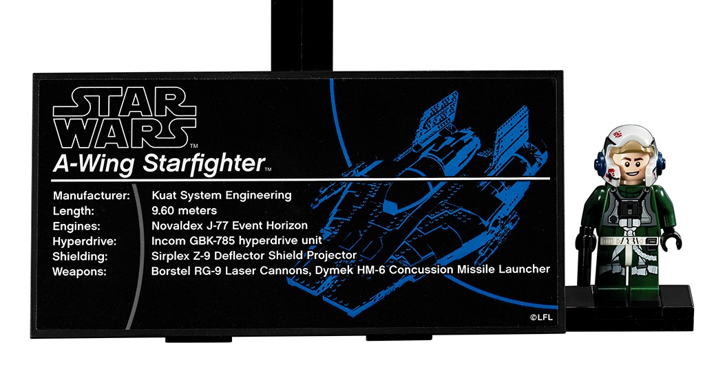LEGO Star Wars 75275 UCS A Wing Plaque