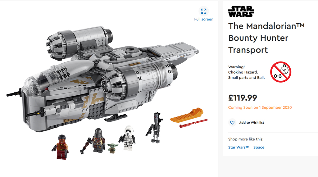 LEGO Star Wars 75292 Name Change