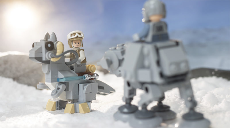 LEGO Star Wars 75298 AT AT Vs Tauntaun FEATURED Resized 800x445