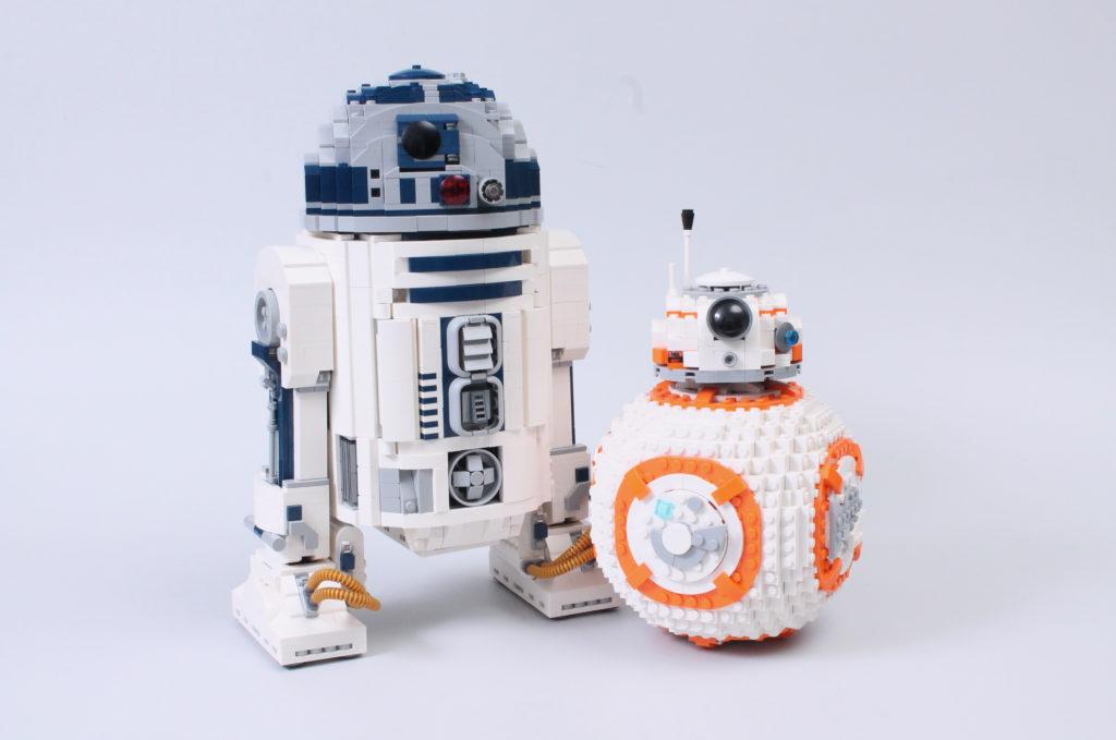LEGO Star Wars 75308 R2 D2 75187 BB 8 comparison 3