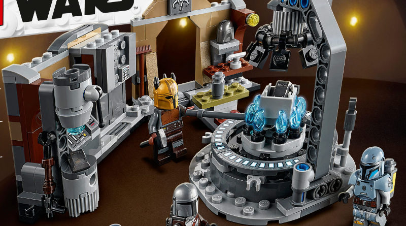 LEGO Star Wars 75319 The Armorers Mandalorian Forge box art featured