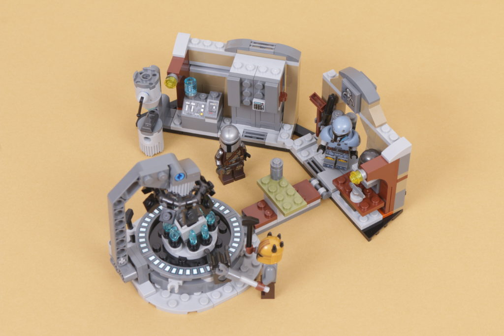 LEGO Star Wars 75319 The Armorers Mandalorian Forge review 38