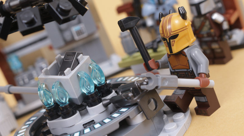 LEGO Star Wars 75319 The Armorers Mandalorian Forge review title