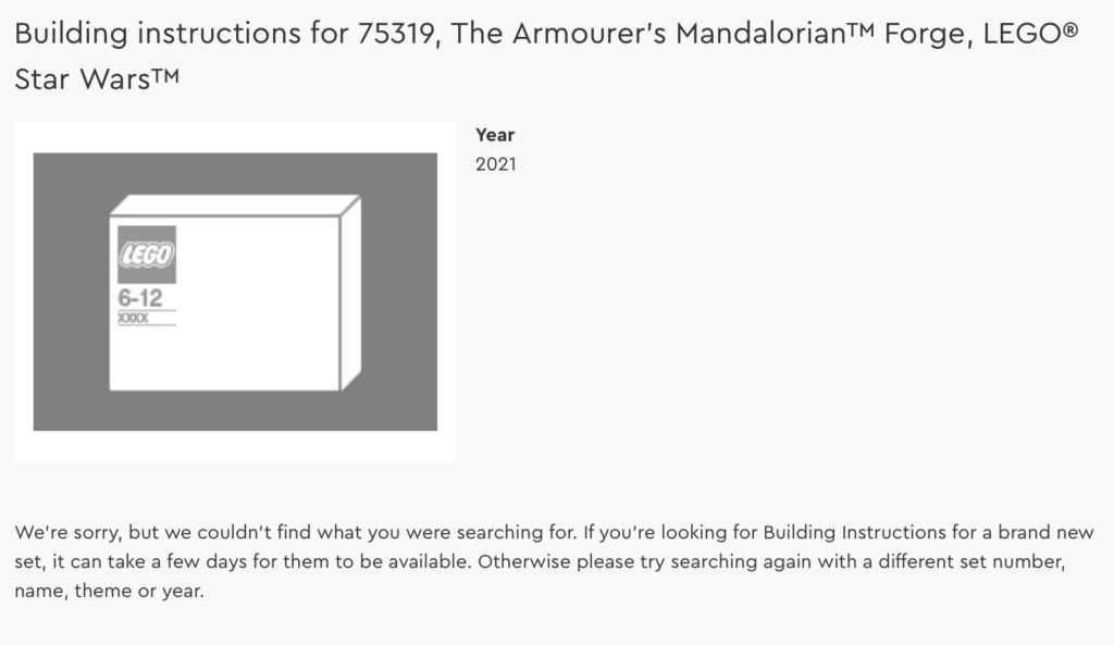 LEGO Star Wars 75319 The Armourers Mandalorian Forge building instructions