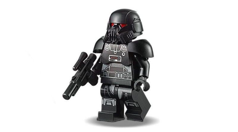LEGO Star Wars Minifigure di Dark Trooper in primo piano