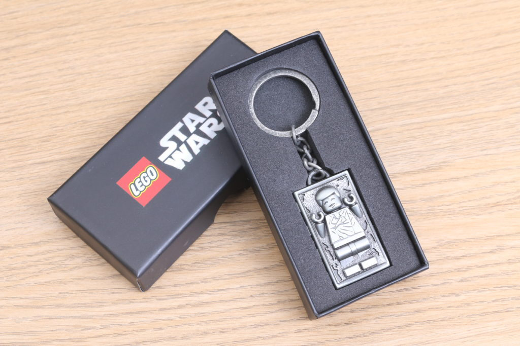 LEGO Star Wars Han Solo In Carbonite Metal Keychain Gift With Purchase VIP Reward Review 14