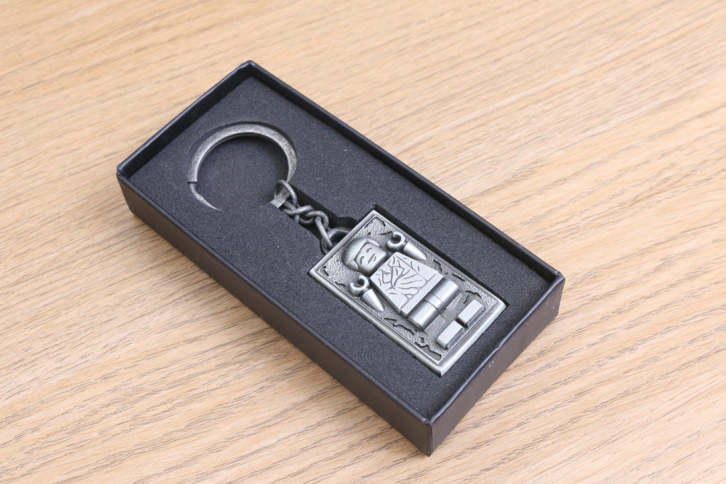 LEGO Star Wars Han Solo In Carbonite Metal Keychain Gift With Purchase VIP Reward Review 3