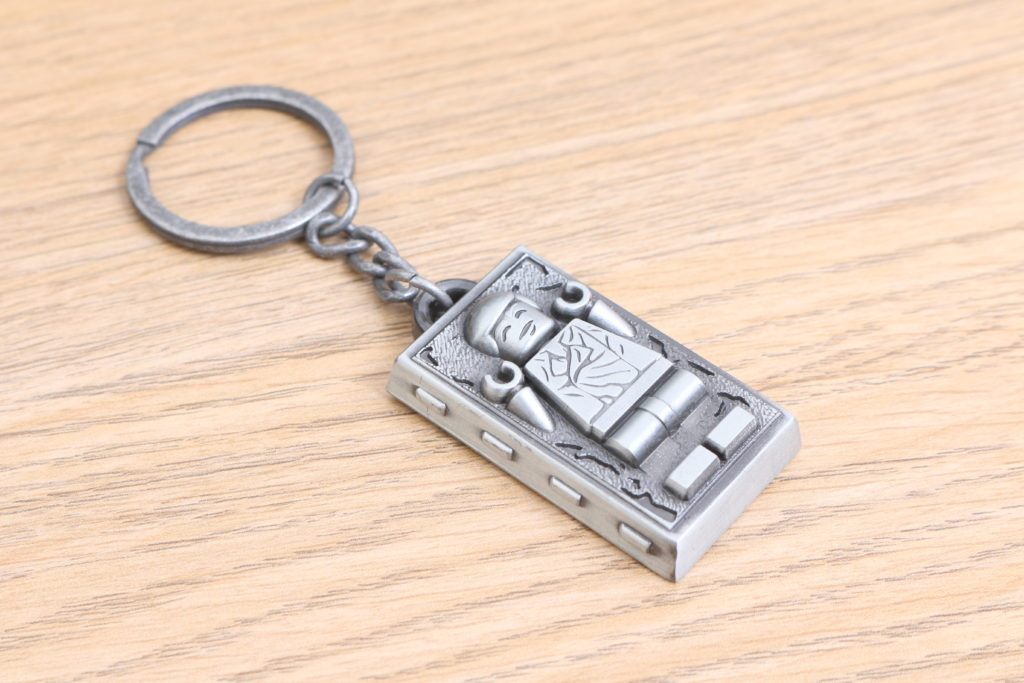 LEGO Star Wars Han Solo In Carbonite Metal Keychain Gift With Purchase VIP Reward Review 4