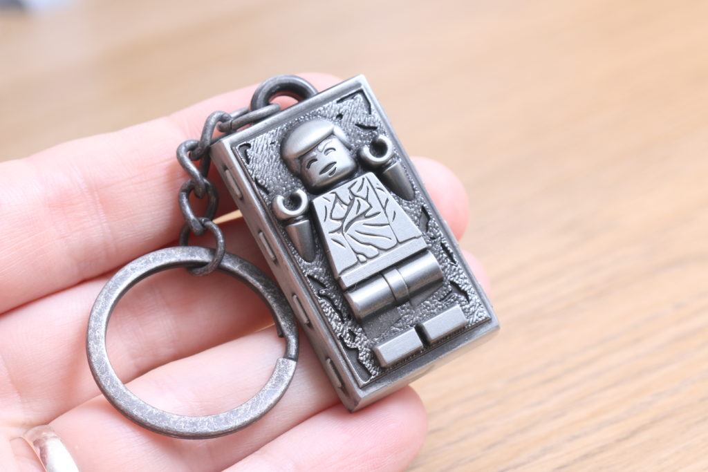 LEGO Star Wars Han Solo In Carbonite Metal Keychain Gift With Purchase VIP Reward Review 7