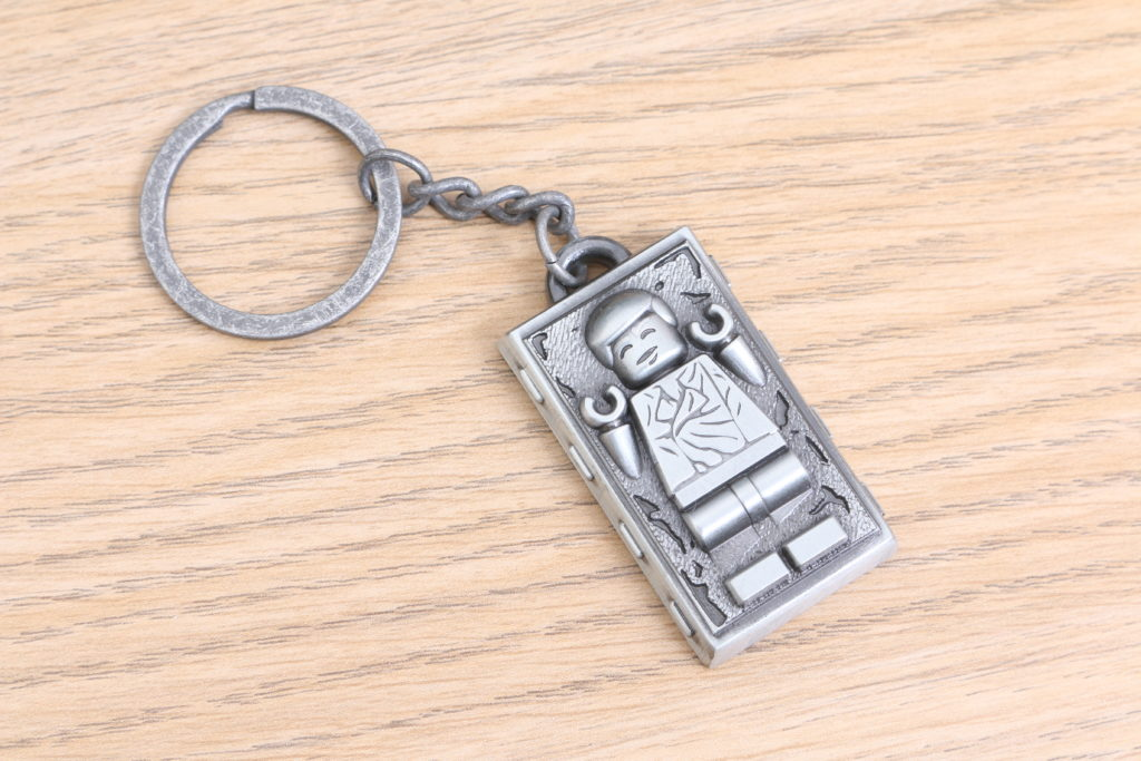 LEGO Star Wars Han Solo In Carbonite Metal Keychain Gift With Purchase VIP Reward Review 8