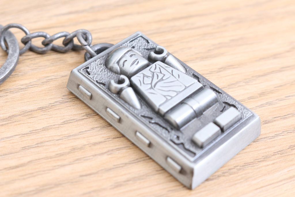 LEGO Star Wars Han Solo In Carbonite Metal Keychain Gift With Purchase VIP Reward Review 9