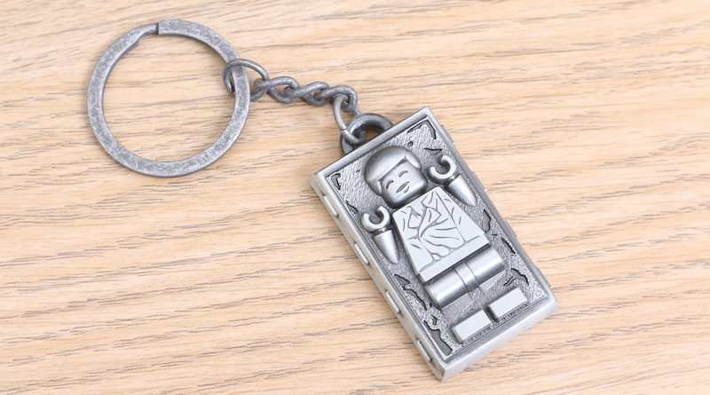 LEGO Star Wars Han Solo In Carbonite Metal Keychain Gift With Purchase VIP Reward Review Title 800x445
