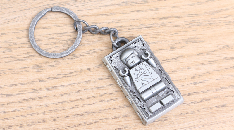 LEGO Star Wars Han Solo in Carbonite metal keychain gift with purchase VIP reward review title