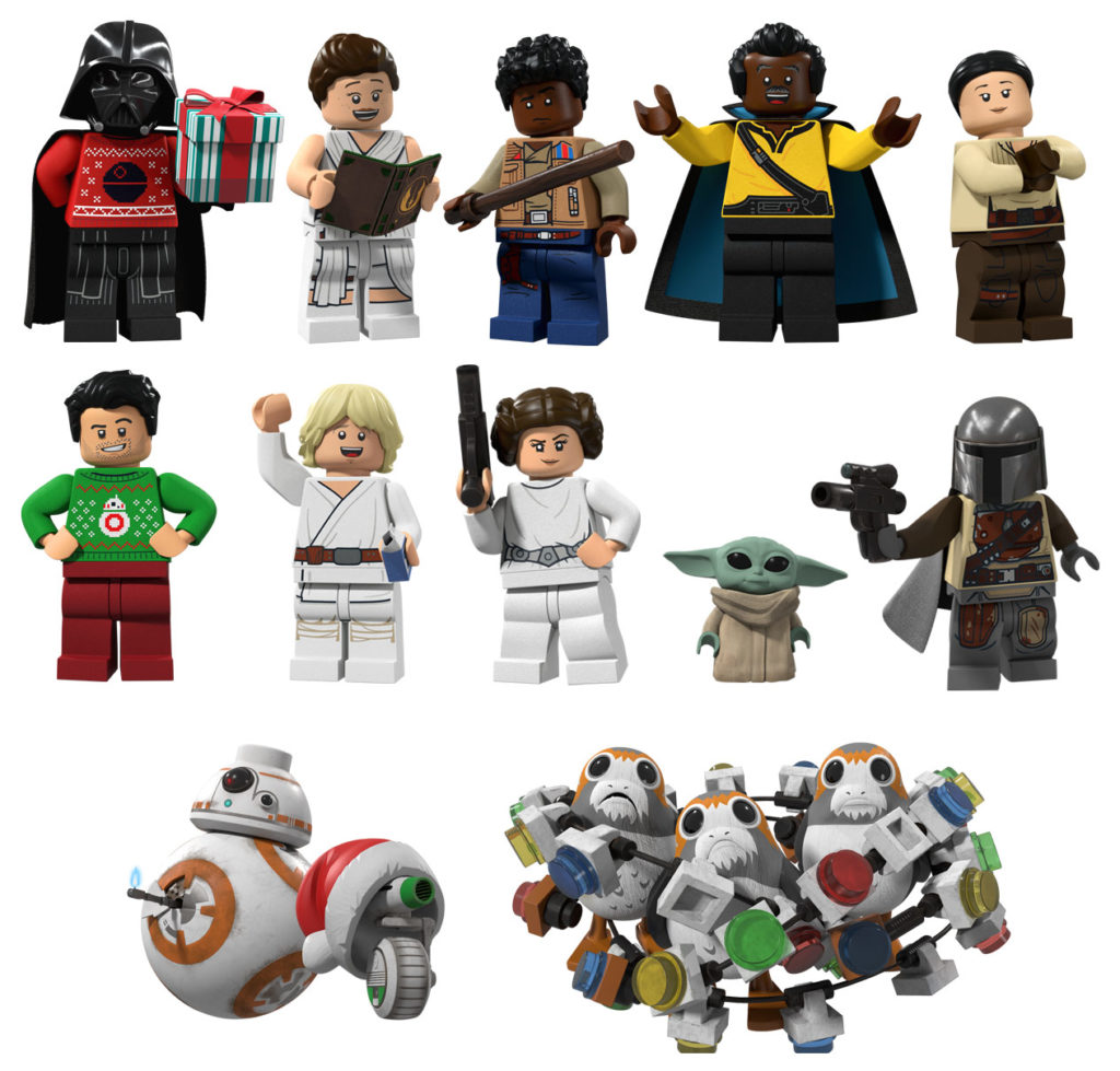 LEGO Star Wars Holiday Special Stickers all