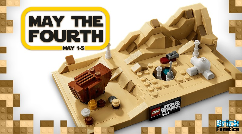 LEGO Star Wars May The Fourth 2021 Brick Fanatics 40451 Tatooine Homestead Featured