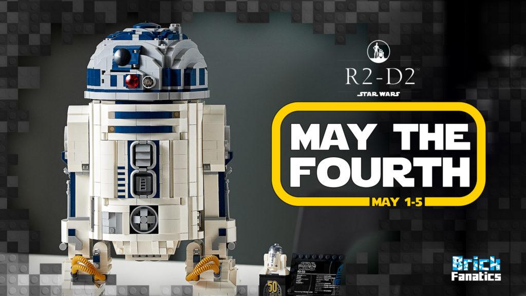 LEGO Star Wars May the Fourth 2021 Brick Fanatics 75308 R2 D2