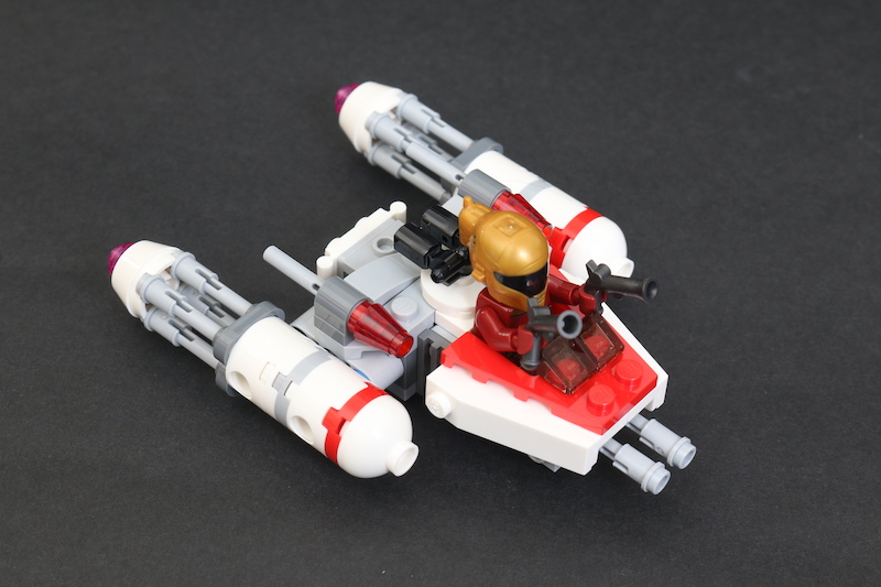 LEGO Star Wars Microfighters 75263 Resistance Y Wing 75264 Kylo Ren's Shuttle And 75265 T 16 Skyhopper Vs Bantha Review 12