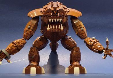 LEGO fan created brick-built Star Wars Rancor