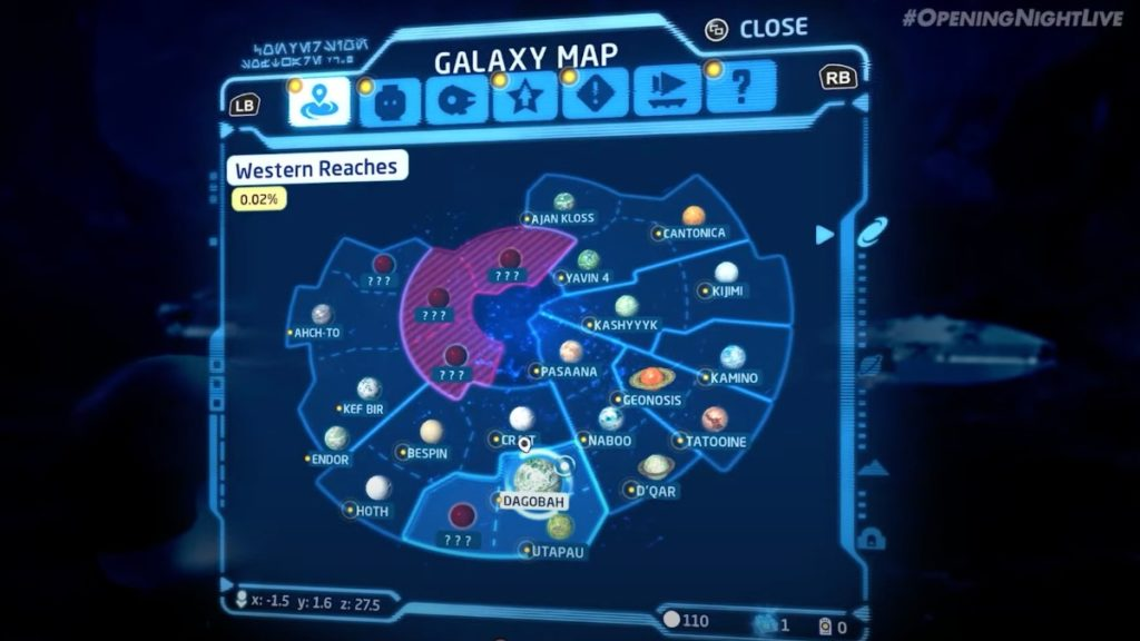 LEGO Star Wars Skywalker Saga Map