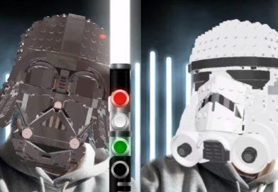 Join the dark side with LEGO Star Wars Helmet Snapchat lenses