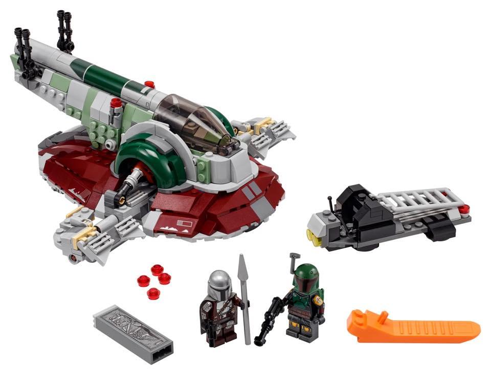 LEGO Star Wars The Mandalorian 75312 Boba Fetts Starship minifigure edit