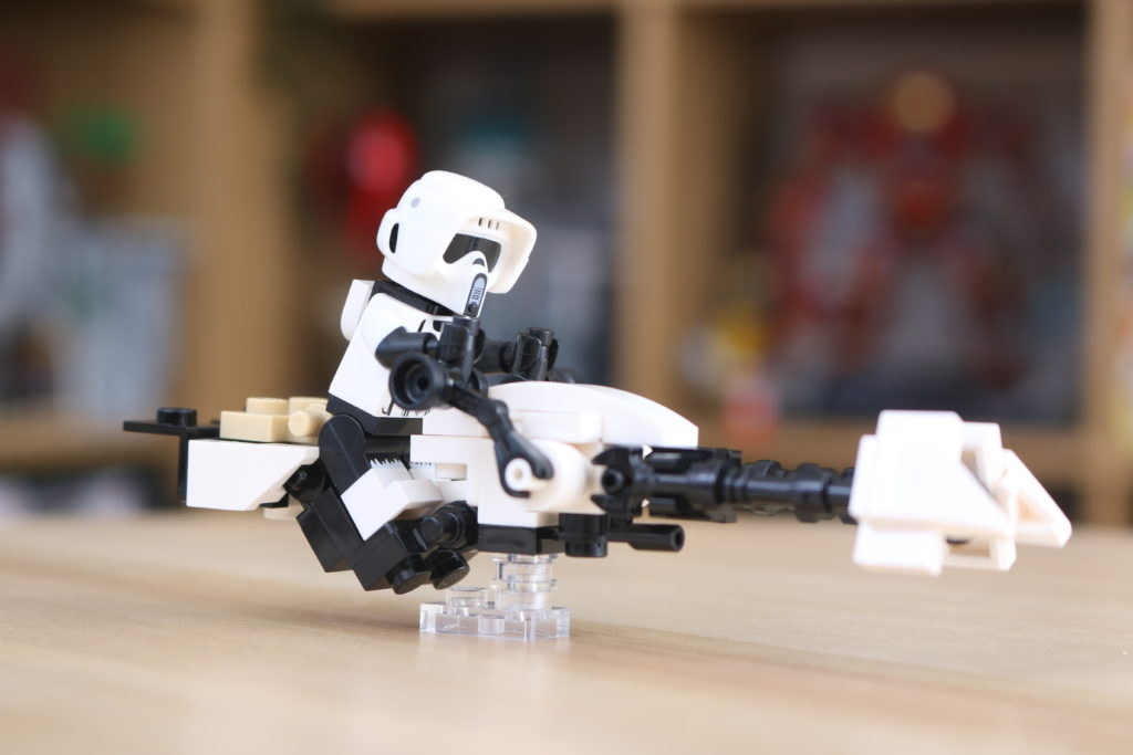 LEGO Star Wars The Mandalorian Speeder Bike Z 74 Custom Build 4